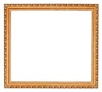 gilted baroque old wooden picture frame - stock photo