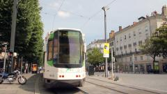 City ​​of Nantes in France Stock Footage