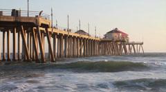 Huntington Pier 720p Stock Footage