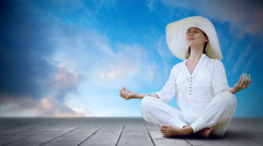 Timelapse view of relaxation woman ( Stock Footage