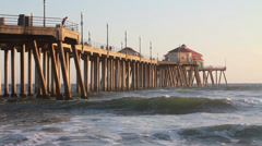 Huntington Pier 1080 Stock Footage