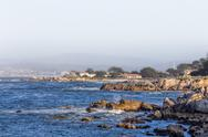 Stock Photo of Ocean Waves at Lover's Point in Pacific Grove