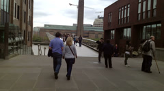 Millenium Bridge Time Lapse London: Editorial Only - stock footage