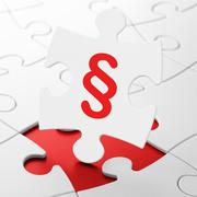 Law concept: Paragraph on puzzle background Stock Illustration