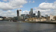 Stock Video Footage of New additions to the London skyline
