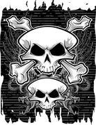 skull and crossbones - stock illustration