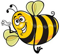Yellow bee  Stock Illustration
