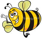 Stock Illustration of yellow bee
