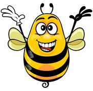 Yellow bee  Stock Illustration