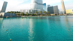 Burj khalifa sunny view time lapse Stock Footage