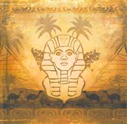 Stock Illustration of abstract grunge frame - great sphinx of giza