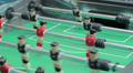 Macro view table football, playing board game, entertainment HD Footage