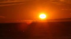 Sunset, Huntington Beach, CA Stock Footage