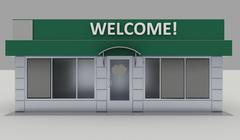 Illustration of shop - kiosk  exterior Stock Illustration