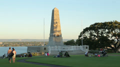 Anzac war memorial, kings park, perth, australia Stock Footage