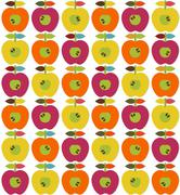 Bright apples seamless Stock Illustration