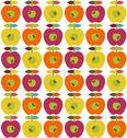 Stock Illustration of Bright apples seamless