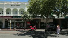 Doyle court building, subiaco suburb, perth, australia Stock Footage