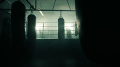LS Male Boxer enters the Boxing Ring  Stock Footage