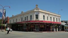 Historic subi plaza, hay street, subiaco, perth, australia Stock Footage