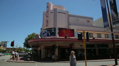 Stock Video Footage of the regal theatre, hay street, subiaco, perth, australia
