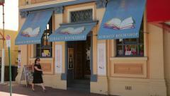 subiaco bookshop, rokeby road, subiaco, perth, australia - stock footage