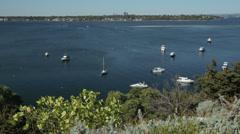 View over swan river at mosman park, perth, australia Stock Footage