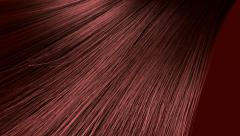 Hair blowing red animation Stock Footage