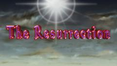 The Resurrection 3D title animation for videos HD Stock Footage