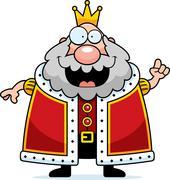 cartoon king idea - stock illustration