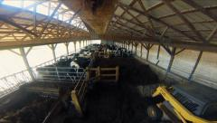 Work on the Farm TimeLapse - Clearing Cow Manure Stock Footage