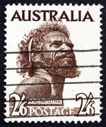 Postage stamp Australia 1952 Aborigine - stock photo