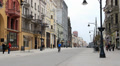 Lodz, Poland city center - Piotrkowska street HD Footage