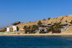 Accommodation in mancora, peru Stock Photos