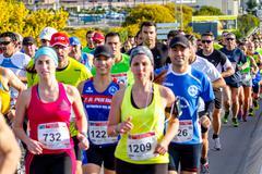 xxviii half marathon bahia de cadiz - stock photo