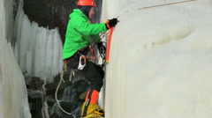 Ice climber Stock Footage