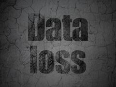 Stock Illustration of Information concept: Data Loss on grunge wall background