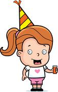 toddler party - stock illustration