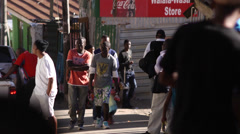 Sunday township buzz,Imizamo Yethu,Hout Bay,South Africa Stock Footage
