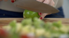 Opening the lime with knife Stock Footage