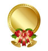 Christmas plaque Stock Illustration
