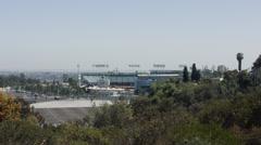 2.5K  Los Angeles Dodgers Stadium Wide Stock Footage