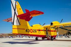 seaplane canadair cl-215 - stock photo