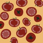 Red Ripe Tomatoes - stock illustration