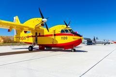 Seaplane canadair cl-215 Stock Photos
