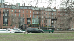 Boston Brownstones Stock Footage