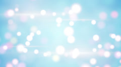 Light blue blurred circles loopable background Stock Footage