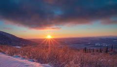 Alaskan Winter Sky Stock Photos