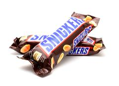Snickers candy bar Stock Photos
