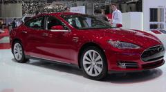 Tesla car Stock Footage